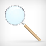 Detailed vector icon magnifying glass