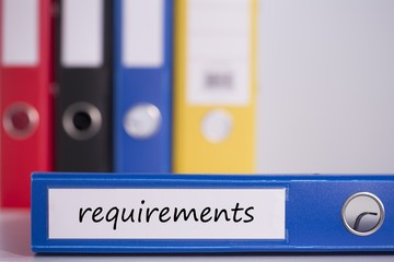 Requirements on blue business binder