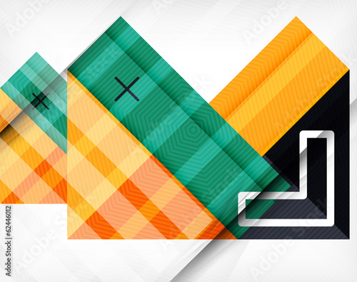 Business geometric shapes abstract poster