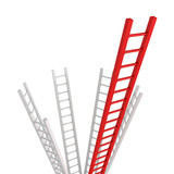 Red Ladder leader as a concept idea of success or leadership tea