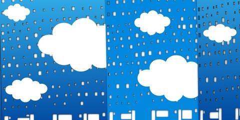nuages en façade