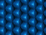 3d Abstract seamless background with blue cubes