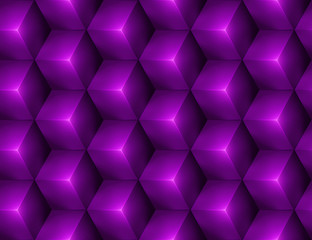 3d Abstract seamless background with purple cubes
