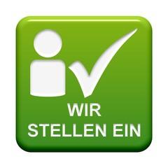 Grüner Button: Wir stellen ein