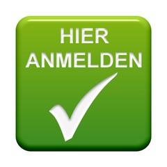 Grüner Button: Haken - Hier anmelden
