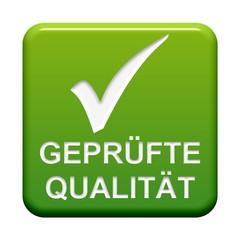 Grüner Button: Haken - Geprüfte Qualität