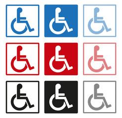 Schwerbehindertensymbole, Icons