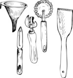 set of different spoons