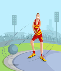 Hammer Throw Player