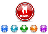 dentist icon vector set