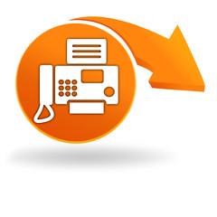 numéro de fax sur bouton orange