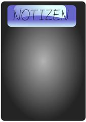 Notizen, Icon, Button, Taffel