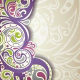 Abstract Purpel Curve Background