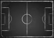 Fußballfeld schwarz