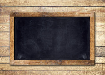 Blackboard / Wooden Background
