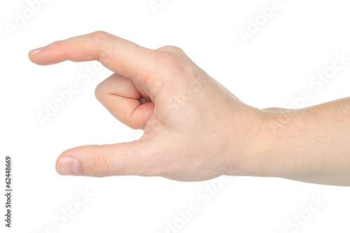 Man hand on white backround