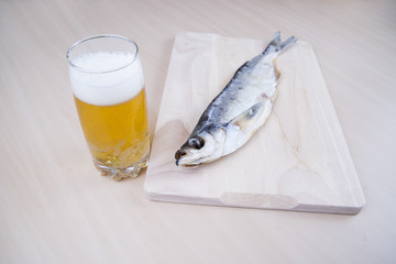 Dried fish with beer