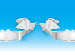 Origami doves wedding background