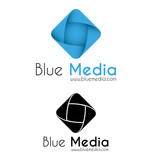 Blue media logo template
