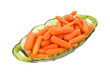 Baby Carrots In Green Serving Dish
