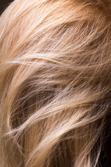 clean natural healthy hair close-up