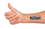 Robot - Insert the battery in an arm