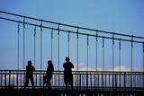 silhouette rope bridge