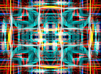 Abstract overlapping pattern