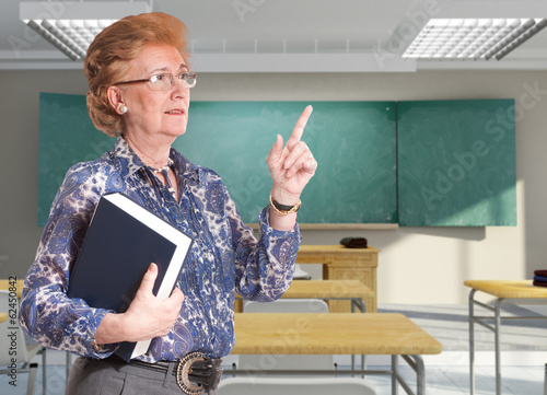 Elegant senior teacher