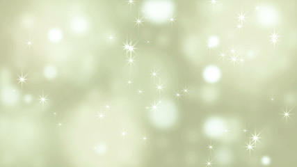 Abstract bokeh golden glitter loop