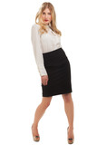 Confident businesswoman standing full length