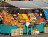 fruits and vegetables for sale in the fruit and vegetable