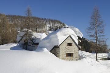 winter landscape - Devero, Piedmont - Italy