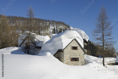 winter landscape - Devero, Piedmont - Italy