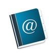 Blue address book icon