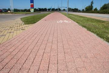 brick paved bikeway