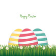 easter colorful eggs daisy meadow isolated background
