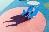 Outdoor whale-shaped play toy