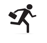 Abstract businessman running icon