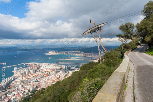 View on Gibraltar and Cable Car Line