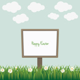 happy easter sign board daisy meadow
