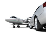 Luxury Transportation isolated on a white background