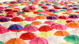A Lots of Colorful Umbrellas