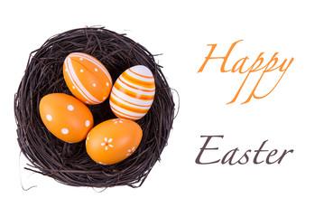 Eggs in the nest for easter.