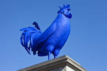 The Blue Cockerel in Trafalgar Square