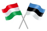 Flags : Hungary and Estonia