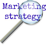 Marketing Strategy - focusing magnifying glass concept
