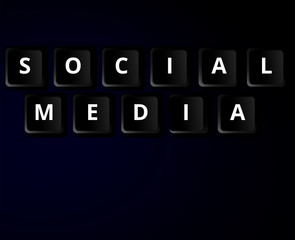 Social media - computer keyboard concept