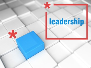 Leadership concept. one unique leader
