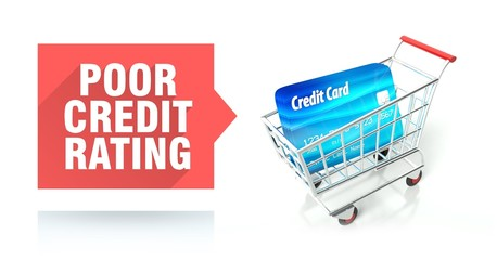 Poor credit rating with shopping cart